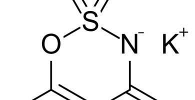 acesulfame potasio estructura molecular