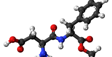 Aspartame composición molecular